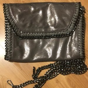 Handbags - Ohhh so Gorgeous Oil slick Suede chain link bag